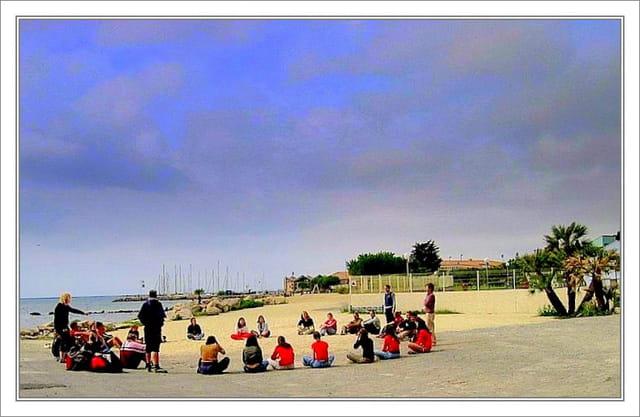 Setting sur la plage de Mèze