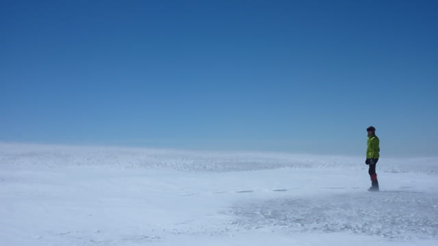 Seul au sol ... à 5400m