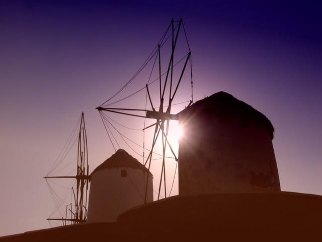 Silouettes des moulins