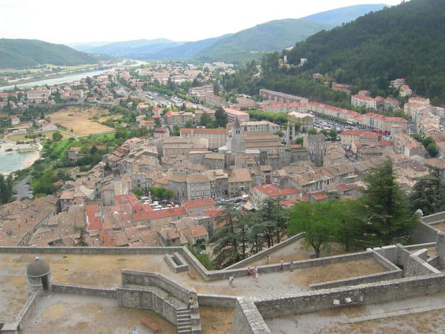 Sisteron vu d'en haut de la citadelle