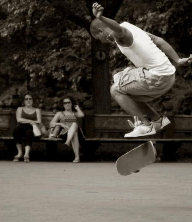 Skate à Central parc