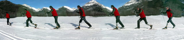 Ski de fond avec prothèse fémorale