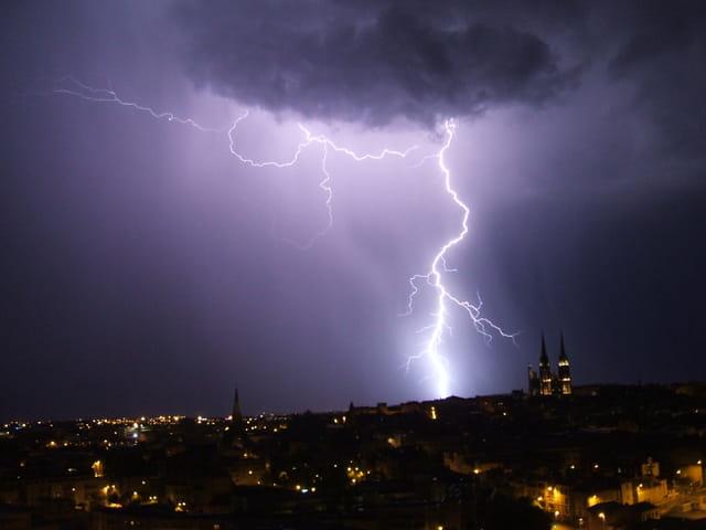 Soir d'orage à Clermont-Ferrand