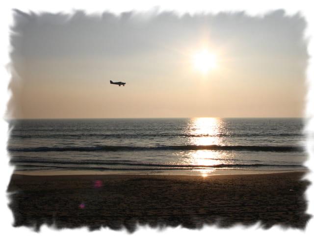 Soir tombant sur la plage