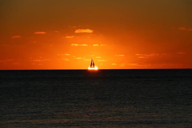 Soleil couchant à Nouméa