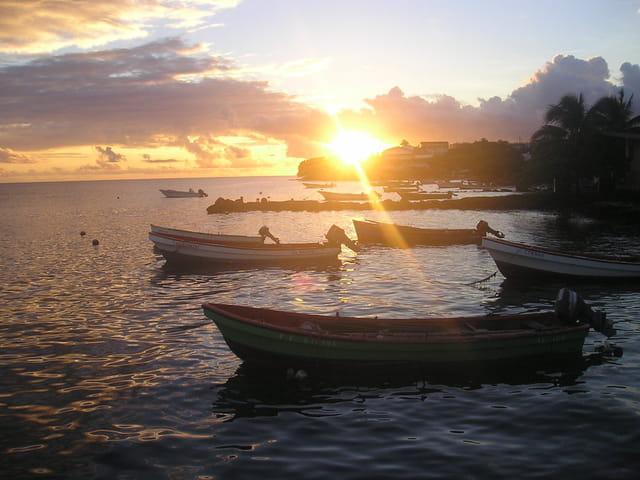 Soleil couchant en Martinique