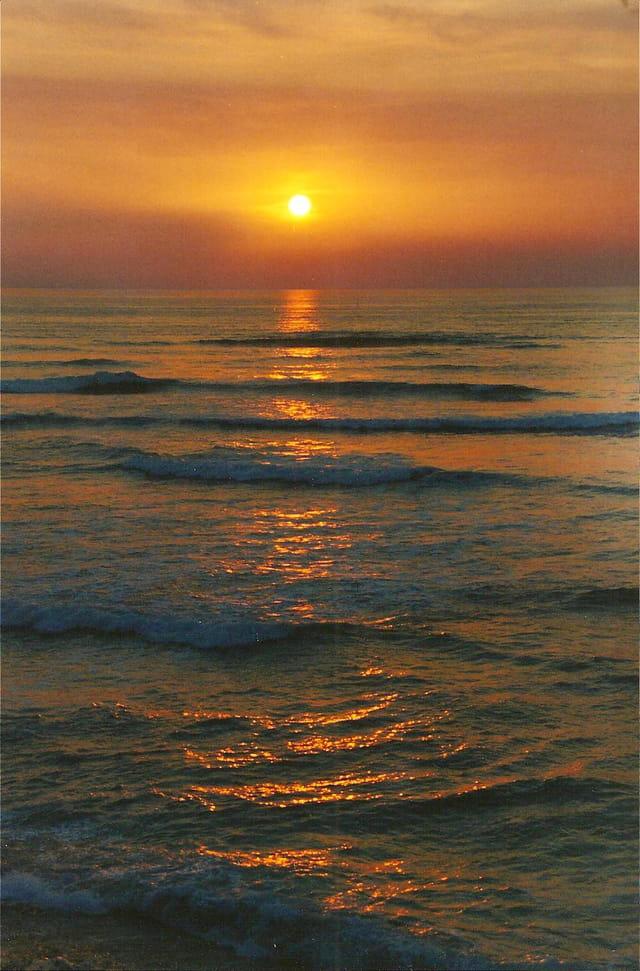 Soleil couchant sur l'atlantique