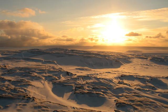 Soleil couchant sur l'île hopewell