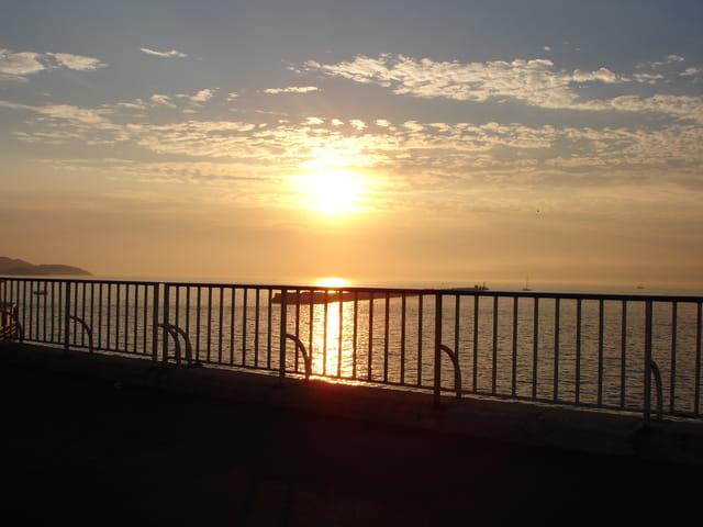 Soleil couchant sur la Méditerranée