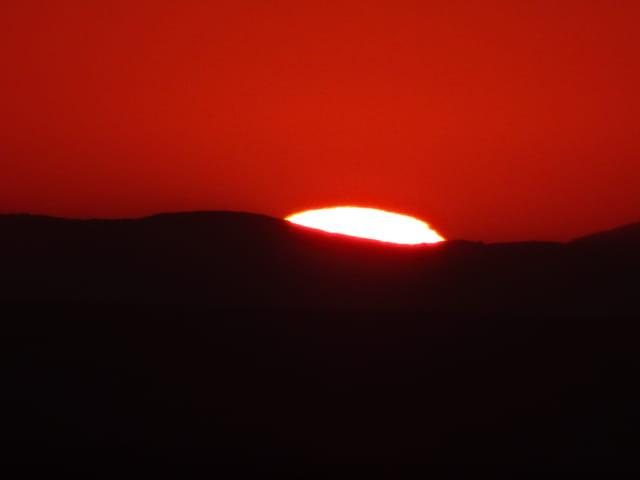Soleil couchant sur la Sierra