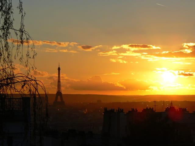 Soleil couchant sur Paris