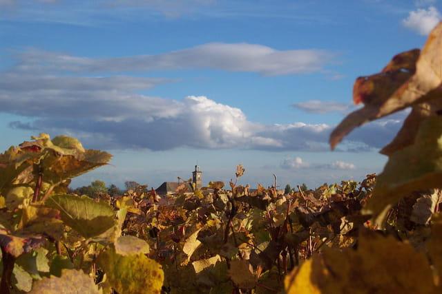 Soleil d'automne sur l'eglise