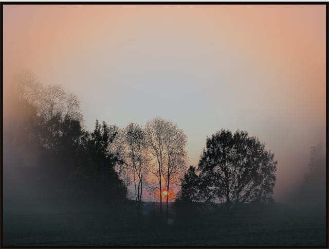 soleil dans la brume