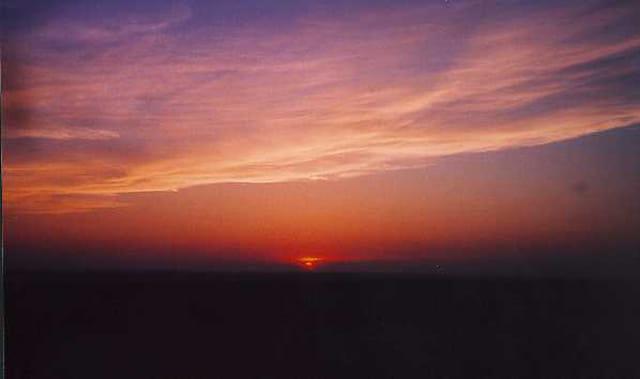 soleil  de la montagne Noire