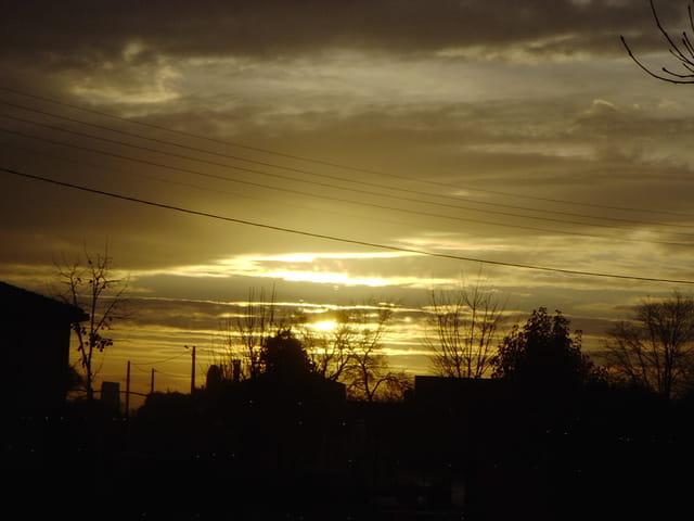 Soleil et ciel un matin d'automne
