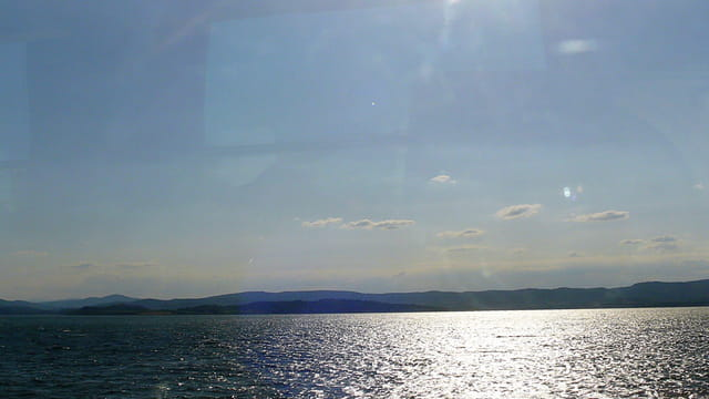 Soleil sur l'étang de Thau