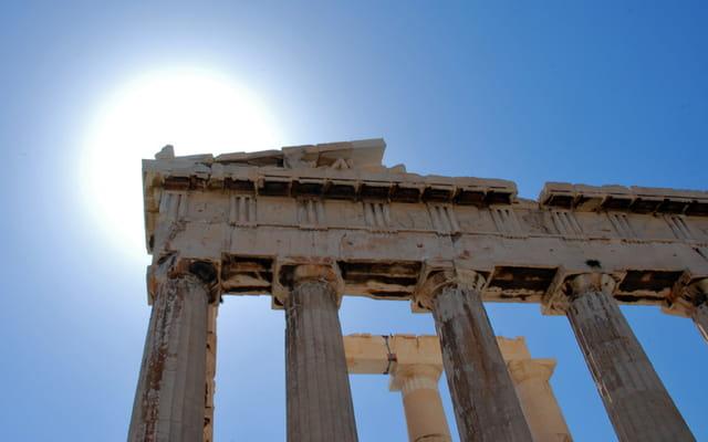 Soleil sur le Parthenon