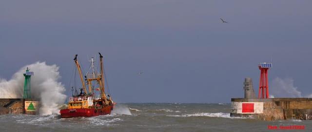 Sortie en mer par mauvais temps