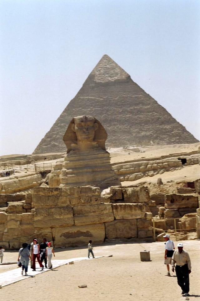 Sphinx et la grande pyramide