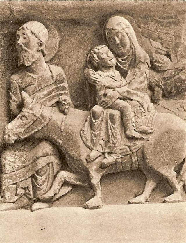St-Paul, la fuite en Egypte (chapiteau)