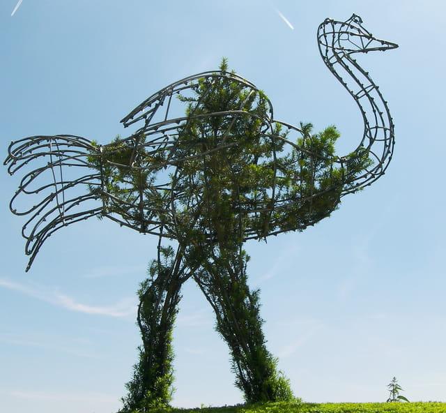 Statue autruche
