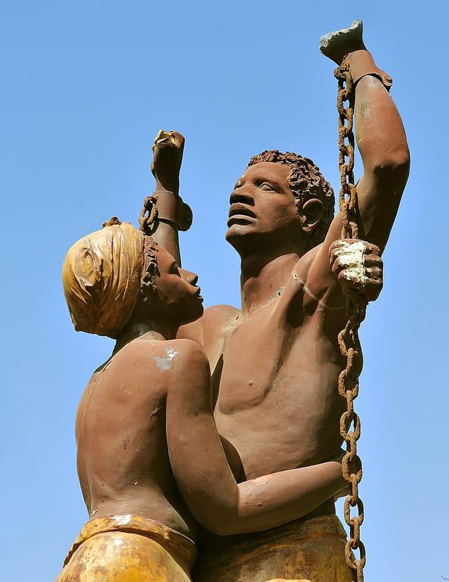 Statue commémorant l'abolition de l'esclavage