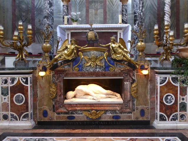 Statue de Sainte Cécile de Stefano Maderno