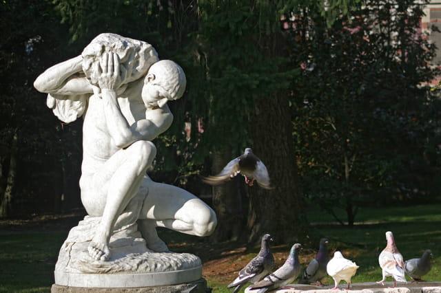 Statue jardin Massey