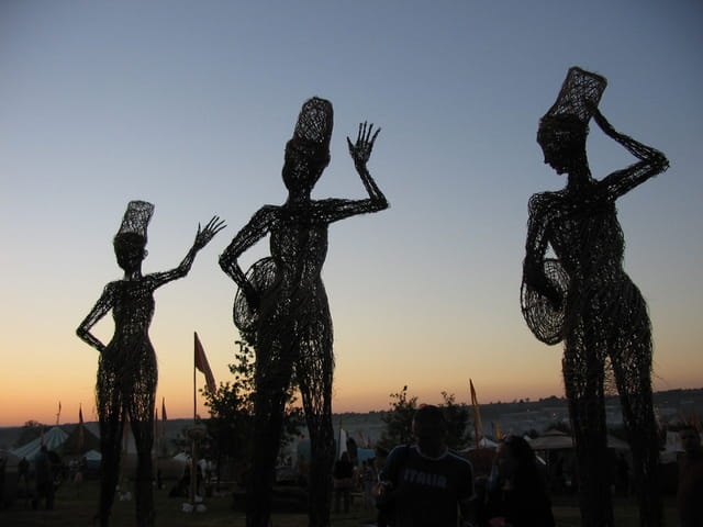 Statues d'osier