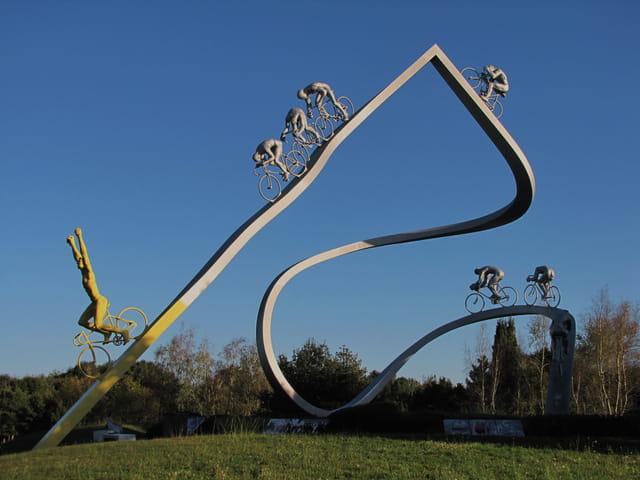 Stèle du Tour de France.