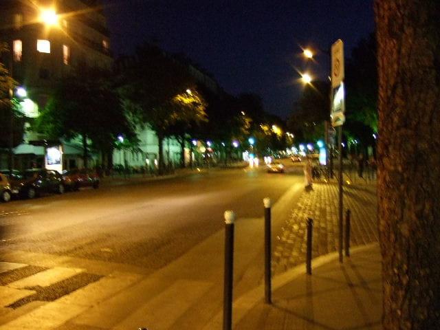 Strange town in the night