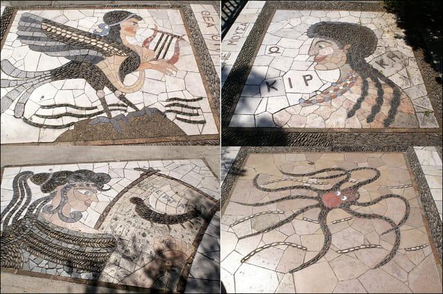 Superbes mosaïques au sol