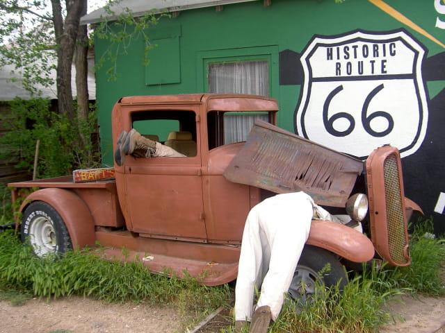 ...sur la route 66....