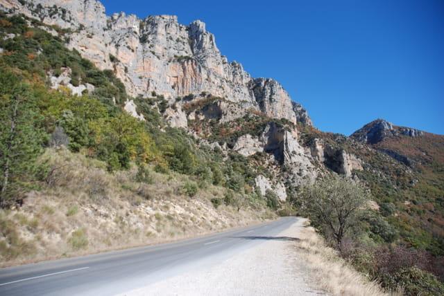 sur la route des gorges du Verdon