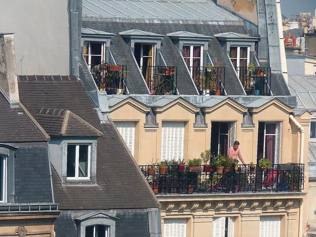Sur les balcons