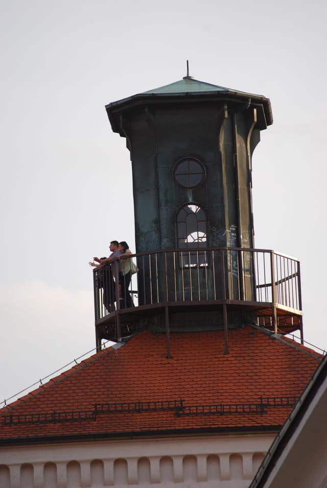 sur les toits de la ville haute de Zagreb