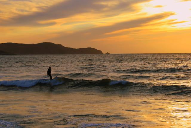 Sur les vagues...