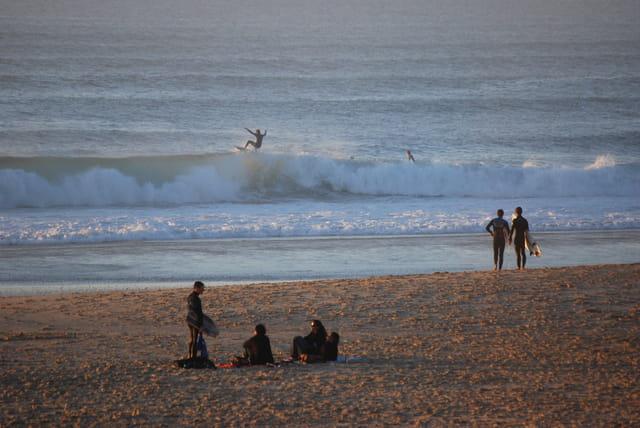 surf à la plage du Lion