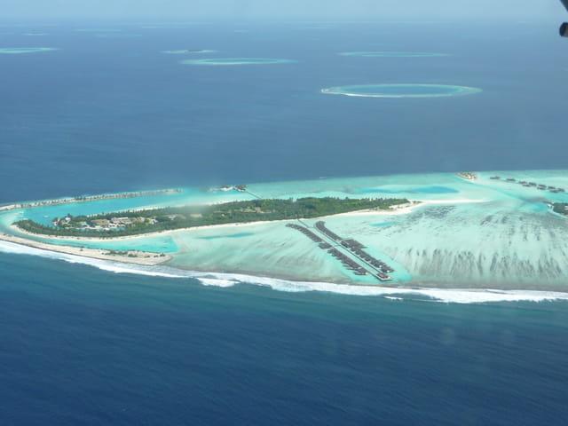 Survol aux maldives