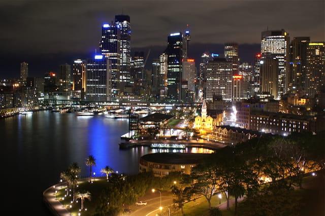 Sydney by night.