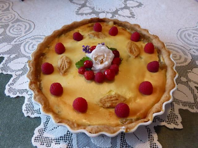 Tarte aux pommes et à la rhubarbe - 13/06/2018