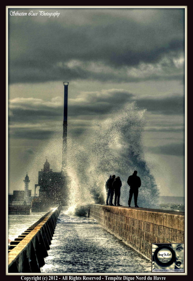 Tempête au Havre Digue Nord