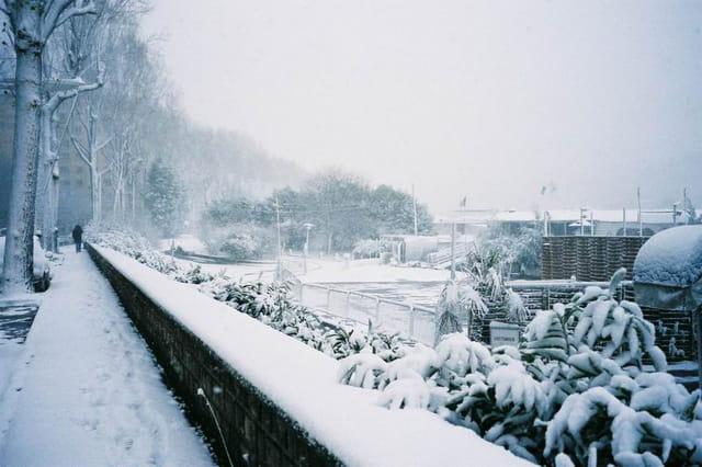 Tempete de neige à Boulogne