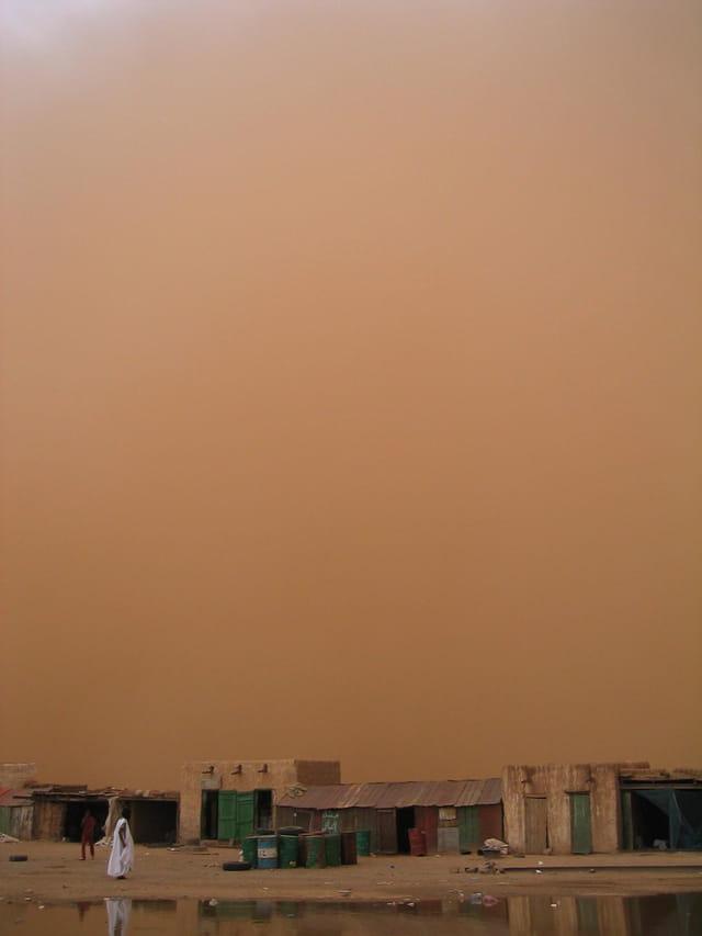 Tempête de sable à Choum