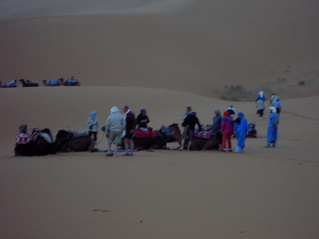 Tempête de sable dans les dunes