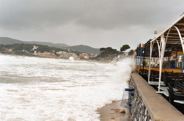 Tempête.front de plage.