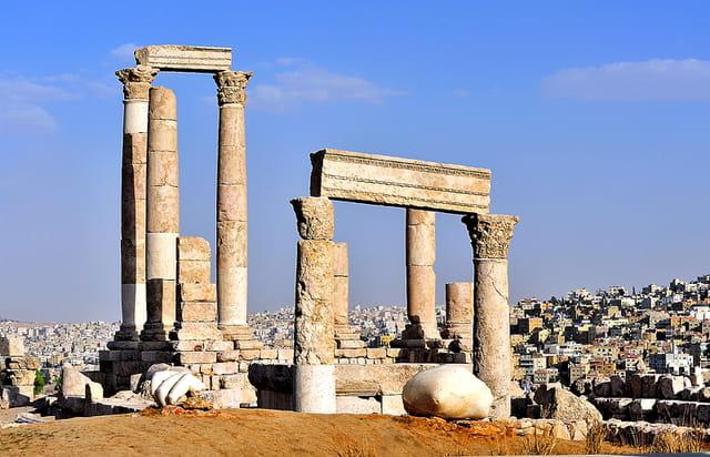 Temple d'Hercule sur la Citadelle d'Amman