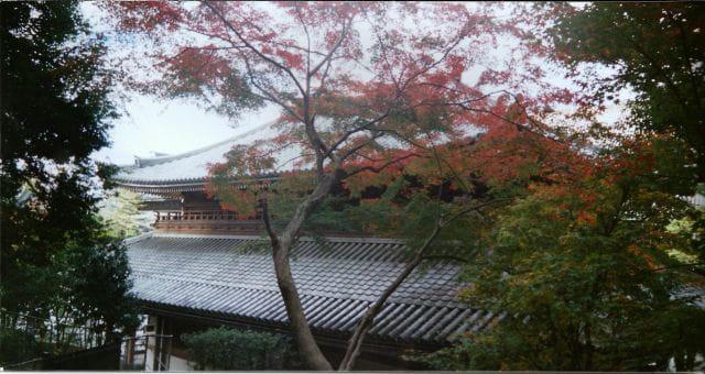 Temple en automne