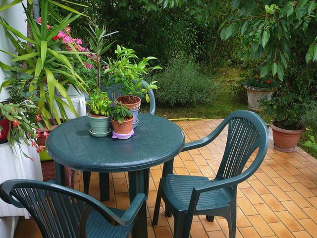 Terrasse et verdure