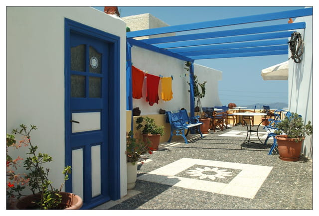 Terrasse toute en couleur